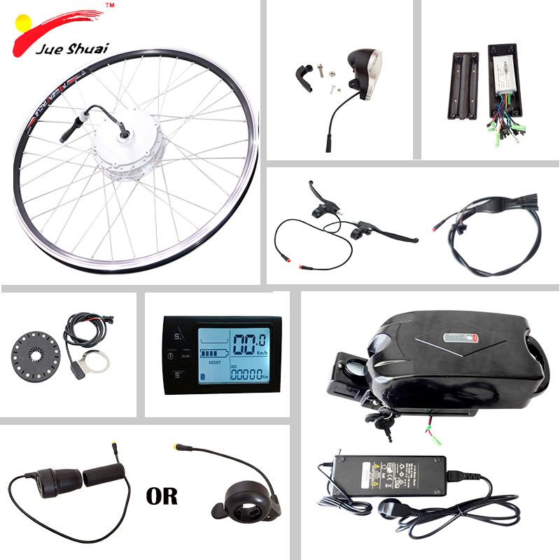 Electric Bike Conversion Kit with Battery 36v10ah Electric Bicycle Motor Wheel 250W 350W 500W E-bike Ebike Electric Bike Kit