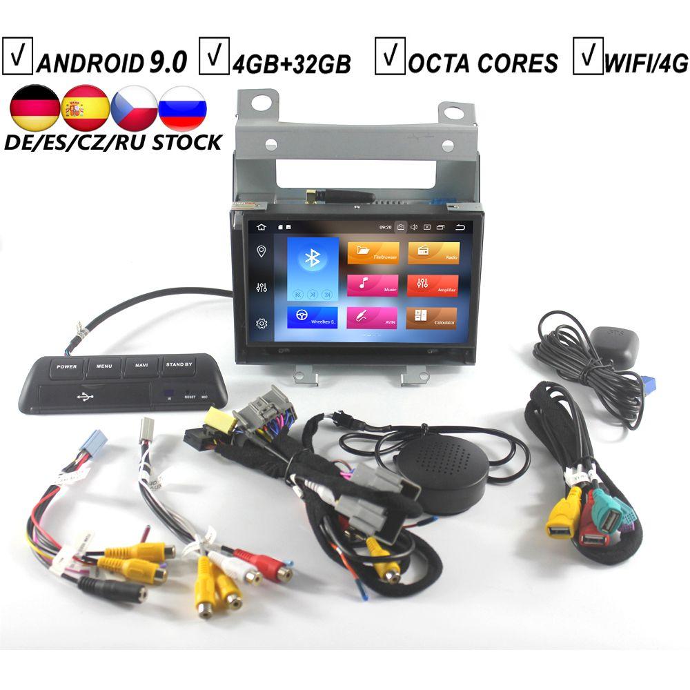 7 Inch Auto Android 9.0 KEINE DVD GPS-Player für Land Rover Freelander 2 Octa Core 4GB RAM + 32GB Flash Bluetooth DVR DAB + Karte Wifi