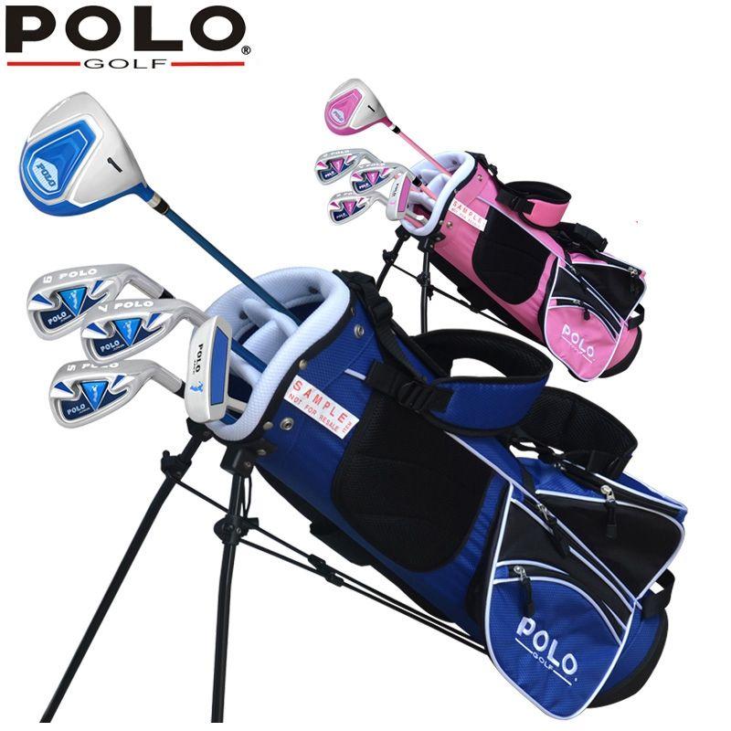 Brand POLO 5-pieces Junior Boys Girls Children Child Kids Golf Clubs Set with Bag Graphite Shaft