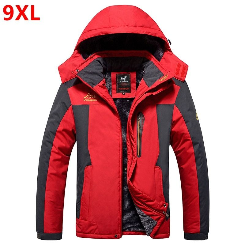 9XL Winter  jackets pourpoint XL Plus size windproof coat Waterproof Fleece thickening Big yards Warmth thick coat  7XL 8XL 6XL