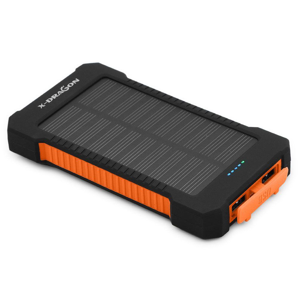 10000mAh chargeur solaire Portable batterie Portable solaire en plein air batterie externe de secours pour les tablettes de téléphone Portable iphone Samsung