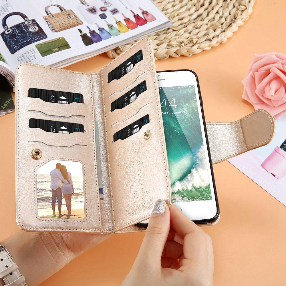 FLOVEME Pour iPhone 7 6 6 s Plus Étui Pour Samsung Galaxy A5 2017 A3 A5 J3 J5 2016 Galaxy s6 S7 Bord S5 J5 J7 Premier Portefeuille En Cuir