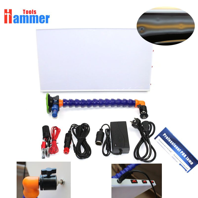 LED PDR Lamp white Borde 3 Strip Line Board Paintless Dent Repair Tool Kit 12v PDR lamp Board PDR Tools LED Light