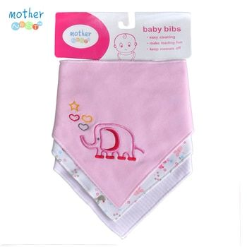 Baby Bandana Drool Bibs for Girls Floral Variety 3 Pcs/lot of Absorbent Organic Cotton Bib Gift Sets for Your Baby Love