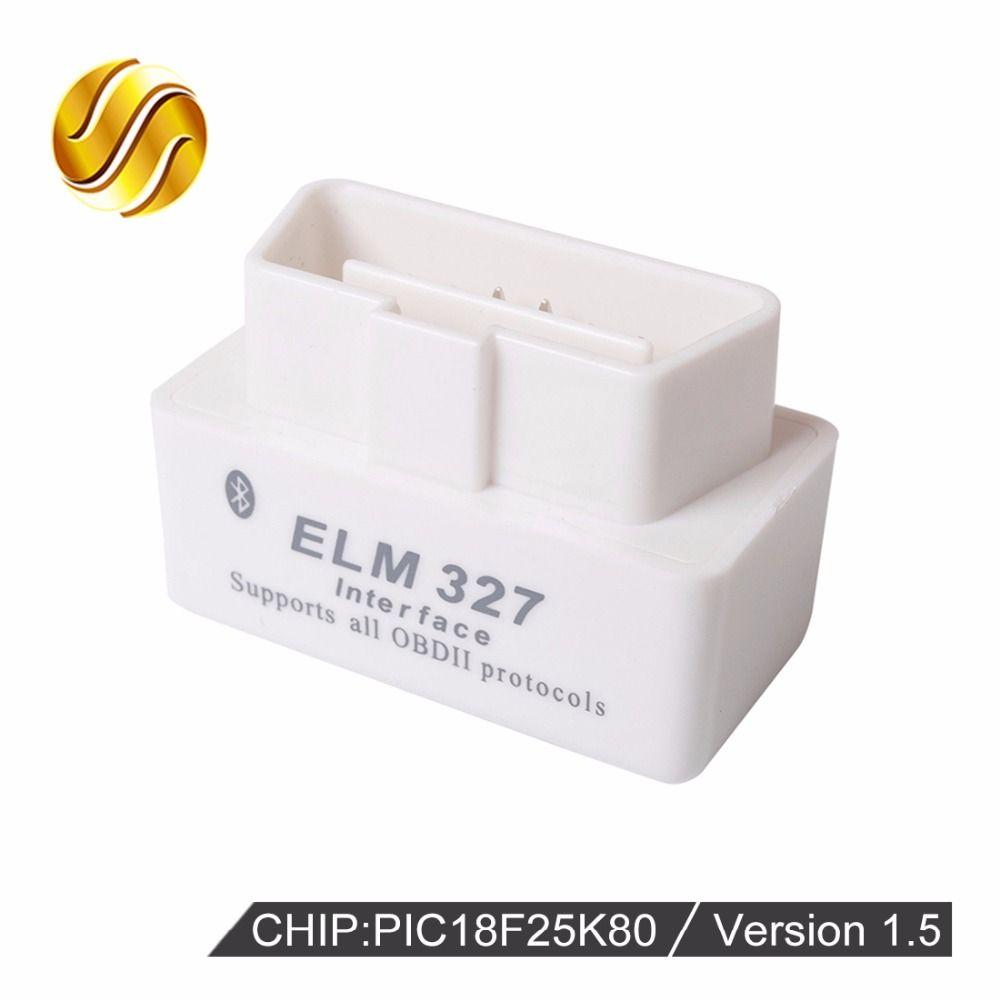 VIECAR V1.5 Super MINI ELM327 Bluetooth OBD2 / OBDII ELM 327 Version 1.5 White Auto Diagnostic Interface Scanner