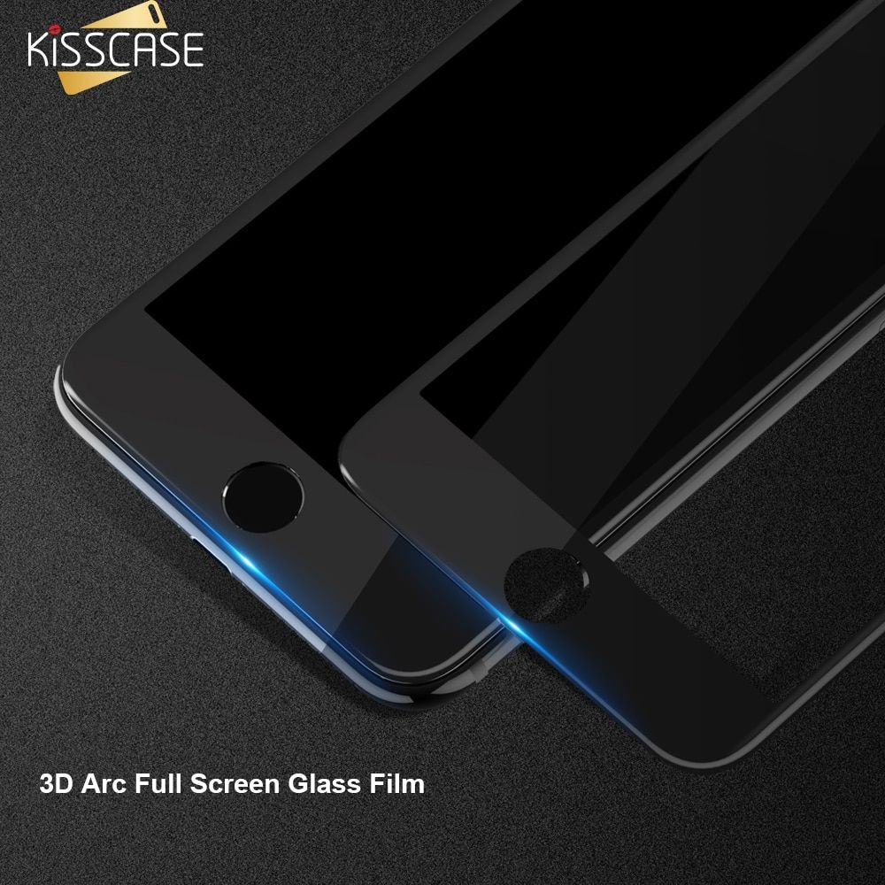 KISSCASE 3D Full Screen Glas Film für iphone 7 8 7 Plus X Displayschutz Gehärtetem Glas Film Abdeckung für iPhone 7 6 glas