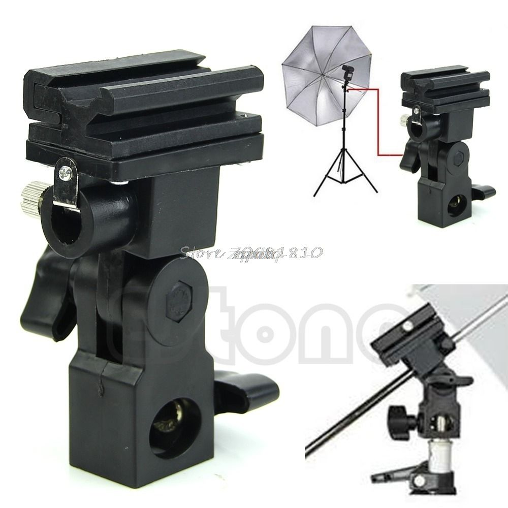SIV Photo Flash Adapter Heißer Schuh Swivel Mount Light Stand Bracket B Regenschirm Halter Z17 Drop Schiff
