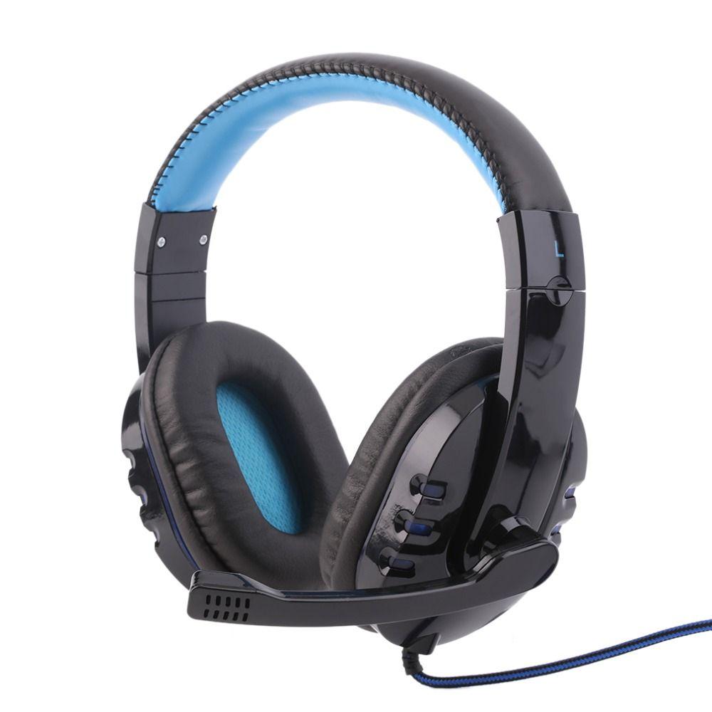Professionelle Gaming Headset Stereo Surround Spiel Kopfhörer Stirnband Kopfhörer 3,5mm mit Licht Mic Micphone Für Computer PC Gamer