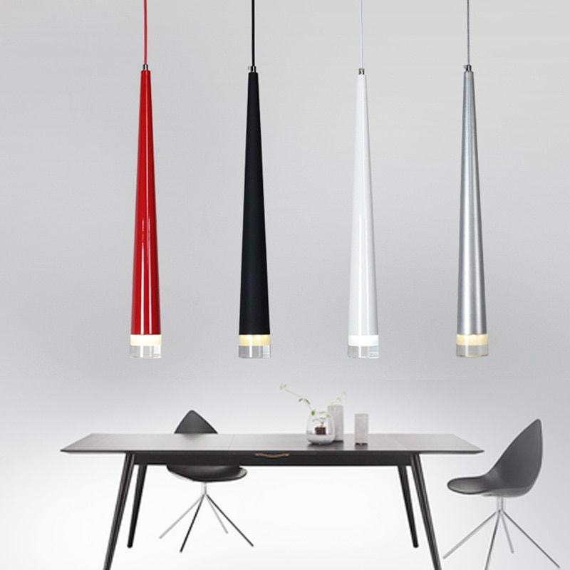 Lampes suspendues modernes 3 W LED en forme de cône lampes suspendues pour Restaurant/salon/Bar