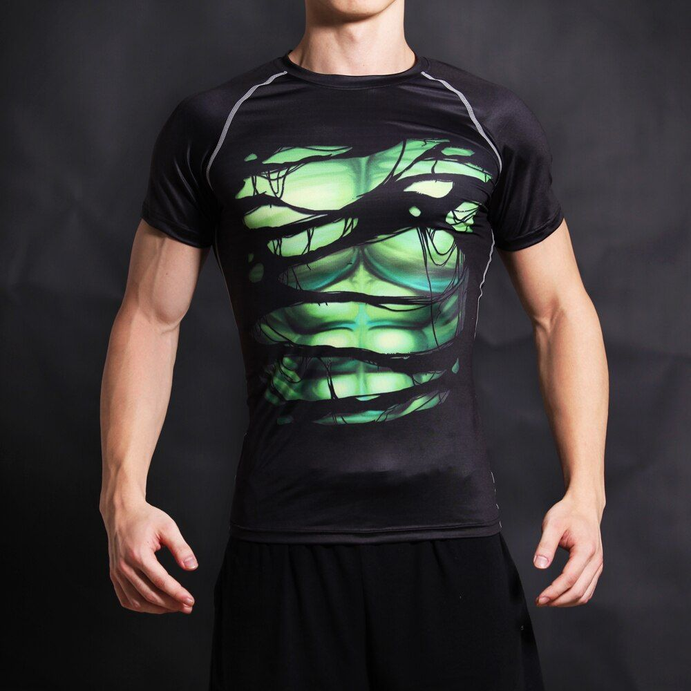 T-shirt Super héros géant vert t-shirt imprimé 3D T-shirts hommes à manches courtes Cosplay Costume DC Film Slim Fit vêtements hauts homme