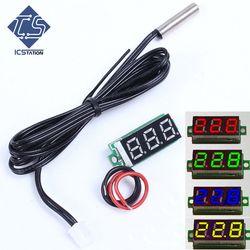Mini LED Display Digital Thermometer Probe 0.1 Celsius Precision Sensor Module NTC Metal Waterproof Temperature Sensor