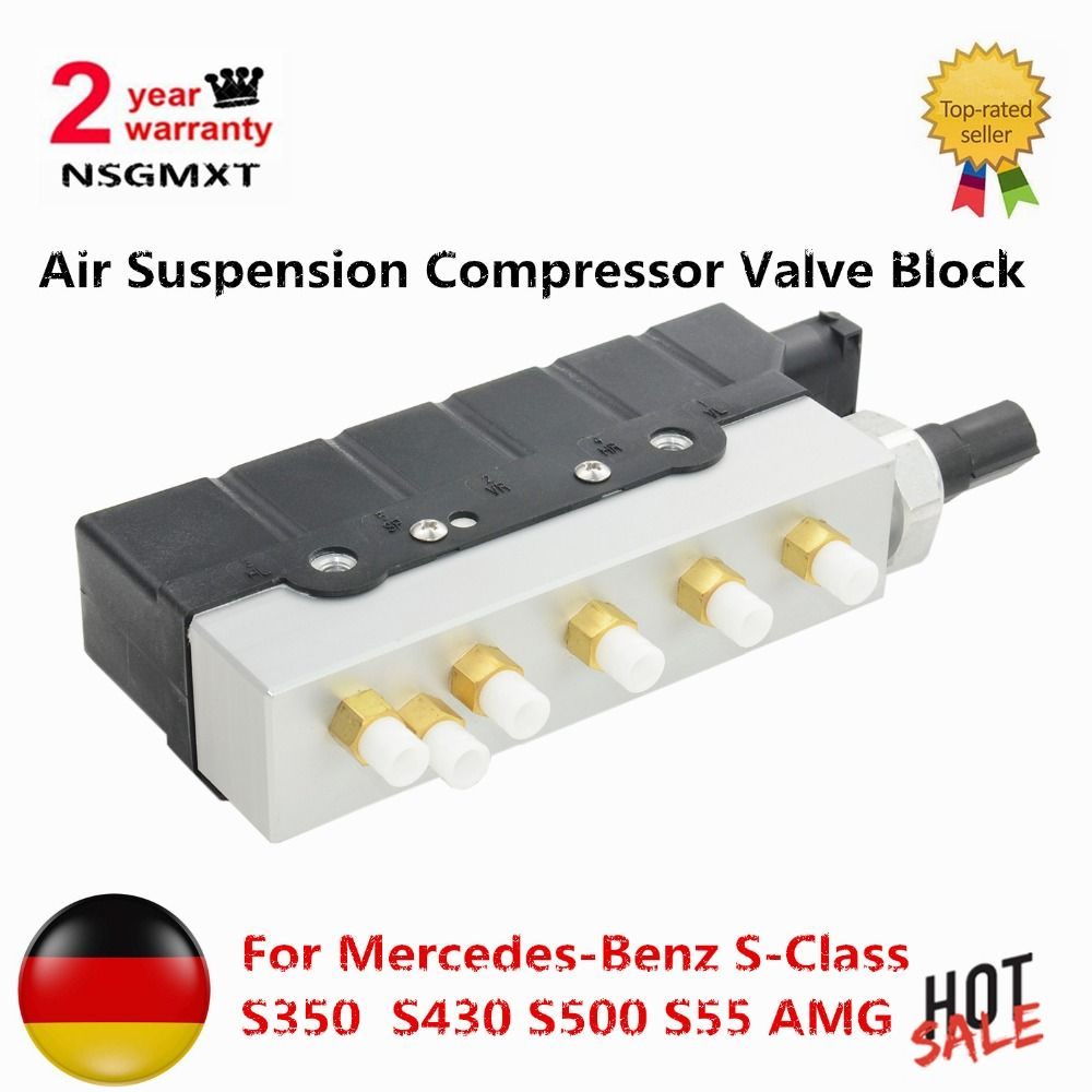 Air Suspension Compressor Valve Block for Mercedes-Benz S-Class S350 S430 S500 S55 AMG S600 S65 AMG W220 2203200258