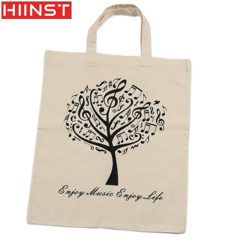 Women's Handbag Hiinst Best Gift Women Pure Cotton Bag Shopping Bag Handbag Environmental Protection a19#3