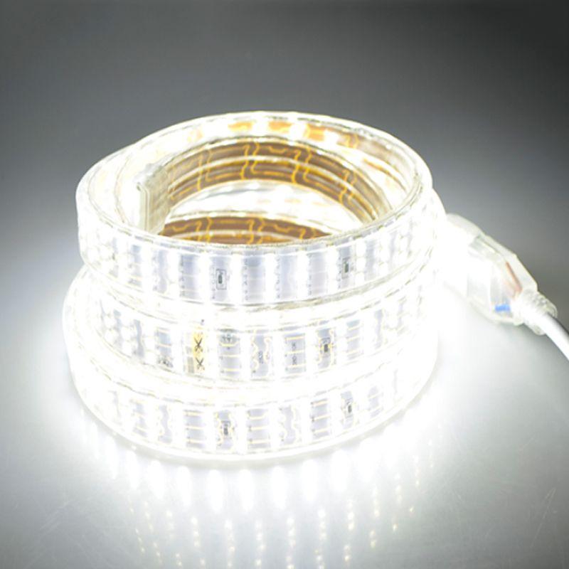 276Leds/m SMD 2835 LED Strip 220V Lamp Waterproof Three Row LED Tape Rope Light Flexible LED light Outdoor Decoration Lights