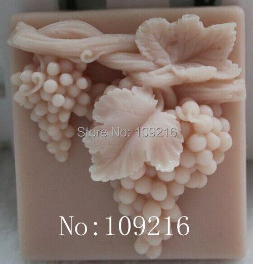 Оптовая продажа! 1 шт. в гроздьями (zx012) Силиконовые ручной Мыло Mold ремесел DIY Плесень