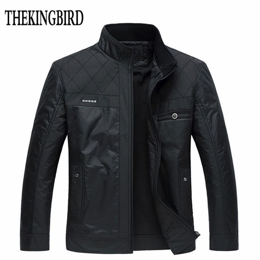 Winter Men Black Jacket Big Size Men Clothing Autumn Thin /Thick <font><b>Padded</b></font> Jkackets Male Winter Business Gentleman Jacket Coat 4XL