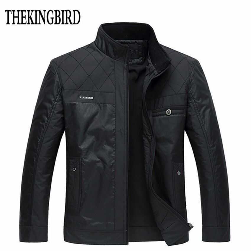 Winter Men Black Jacket Big Size Men Clothing Autumn <font><b>Thin</b></font> /Thick Padded Jkackets Male Winter Business Gentleman Jacket Coat 4XL
