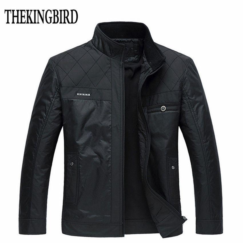 Winter Men Black <font><b>Jacket</b></font> Big Size Men Clothing Autumn Thin /Thick Padded Jkackets Male Winter Business Gentleman <font><b>Jacket</b></font> Coat 4XL
