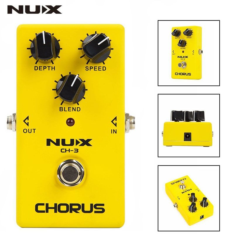 NUX CH-3 Guitar Effect Pedal Chorus Low Noise BBD True Bypass Guitarra Effect Pedal Guitar Accessories (Ship from Russian)