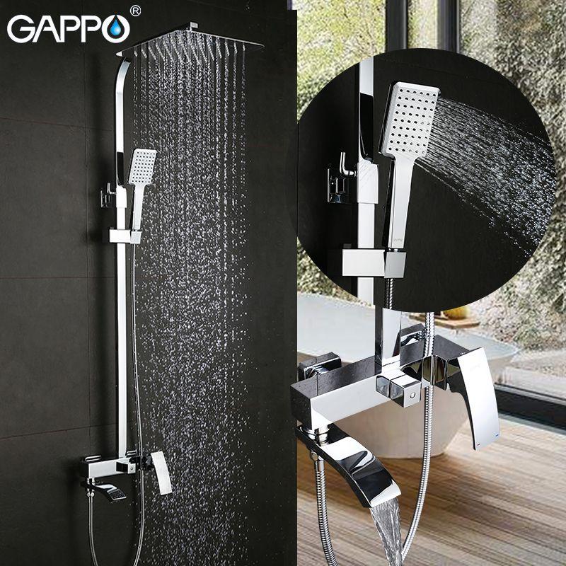 GAPPO dusche wasserhahn set bronze wasserfall wand badewanne wasserhahn mischbatterie dusche kopf chrome Bad Dusche set G2407 G2407-8