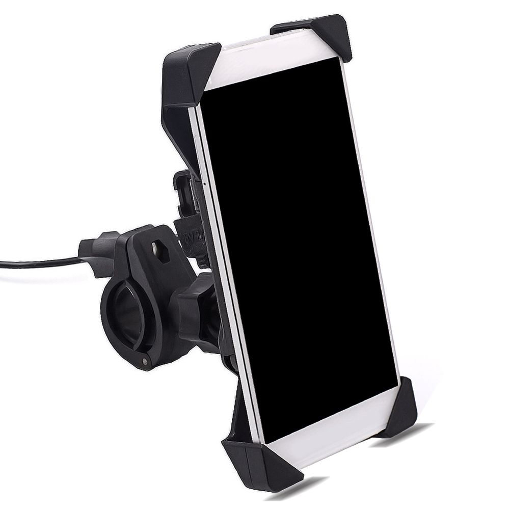 Motorcycle Bike Handlebar Mobile Phone GPS Mount Holder Retractable Phone Holder motorcycle USB Charger for iphone Samsung New