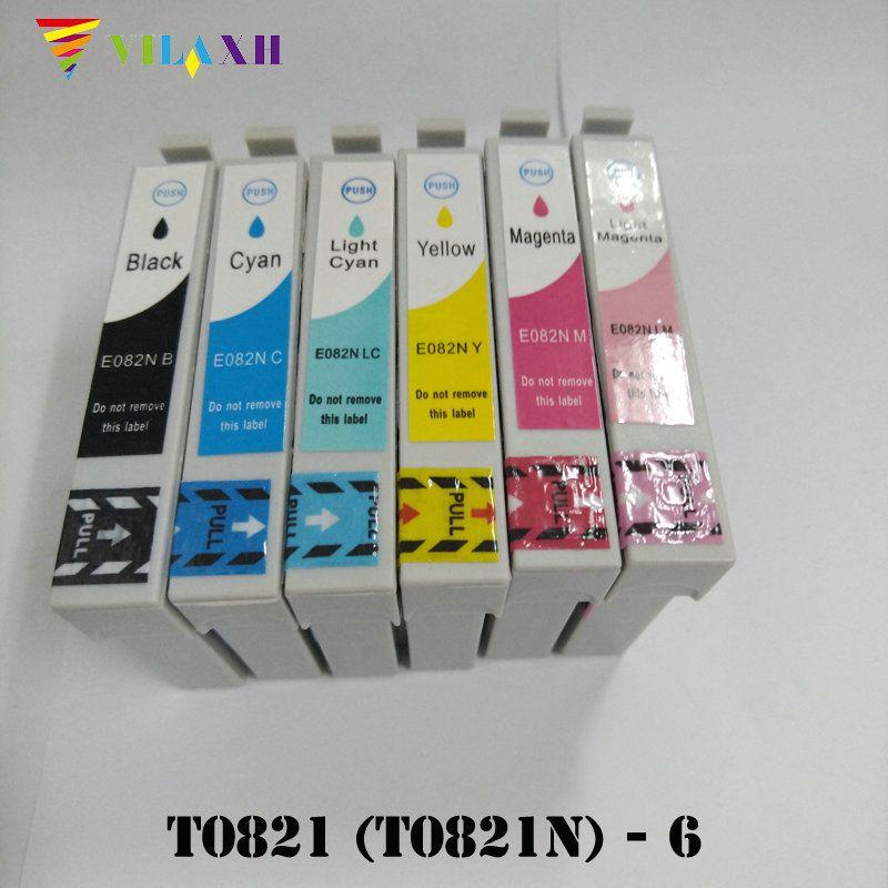 T0821 - T0826 T0821N Ink Cartridge for Epson T50 T59 TX650 TX800 TX710W R270 R270 R290 R295 R390 RX590 RX610 RX615 Printer