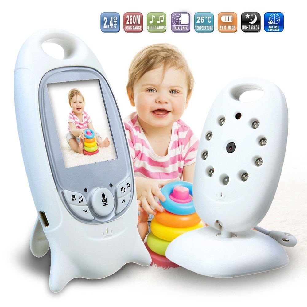 2 inch baby monitor support 2 way-talk ,Temperature monitoring and Feeding Time Reminder Music babysitter Intercom Home Security