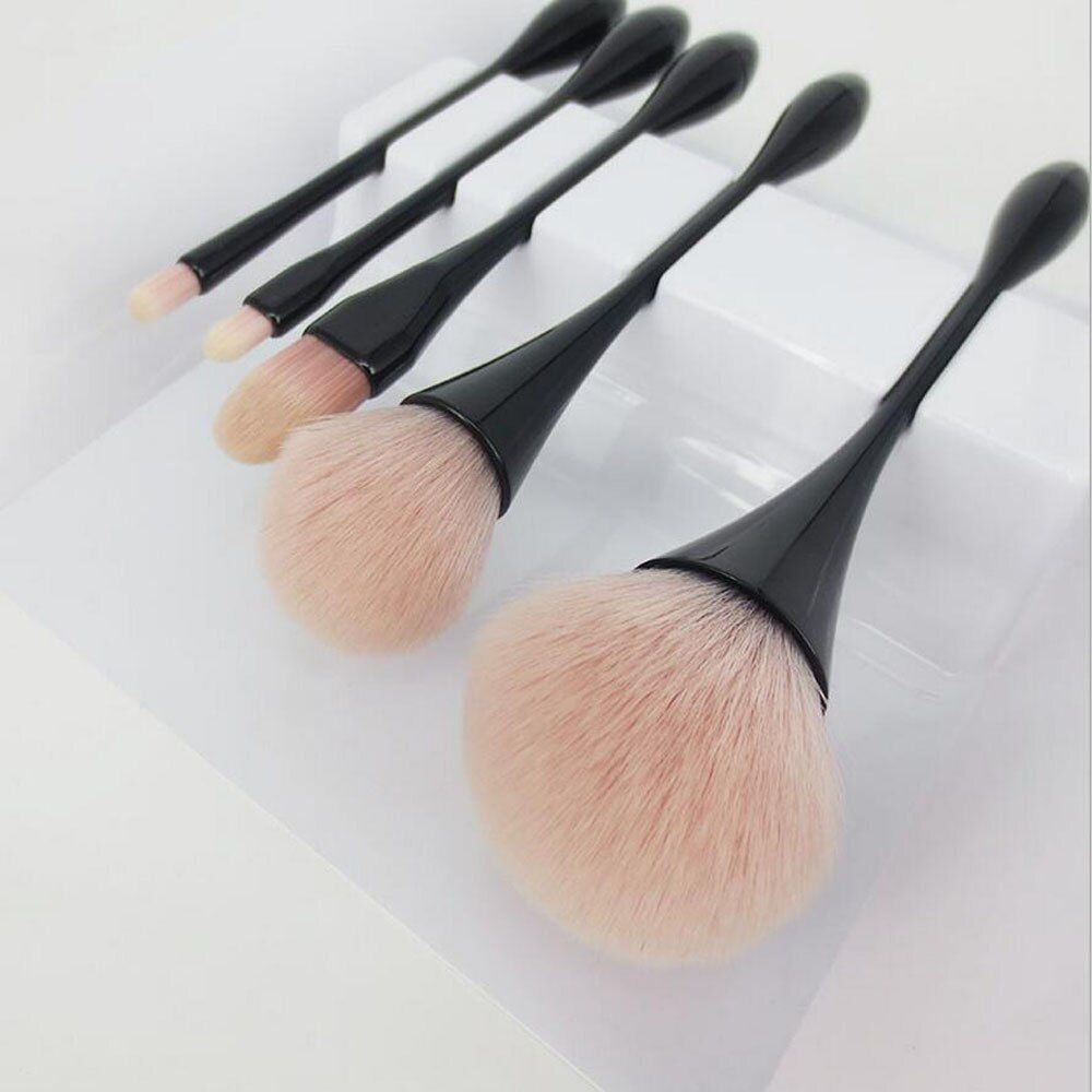 Coshine haute qualité 5 pièces/ensemble sirène professionnel en Nylon pinceau de maquillage fond de teint professionnel poudre crème Blush Kits de brosse