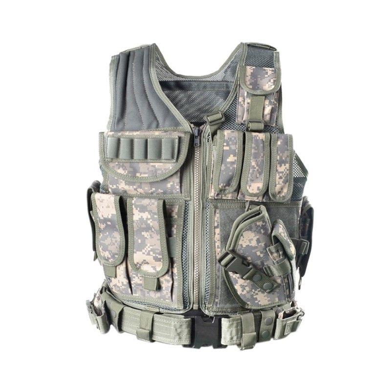 2018 Outdoor Polizei Taktische Weste Camouflage Weste Military Body Armor Sportbekleidung Jagd Armee SWAT Molle Westen Neue Ankunft