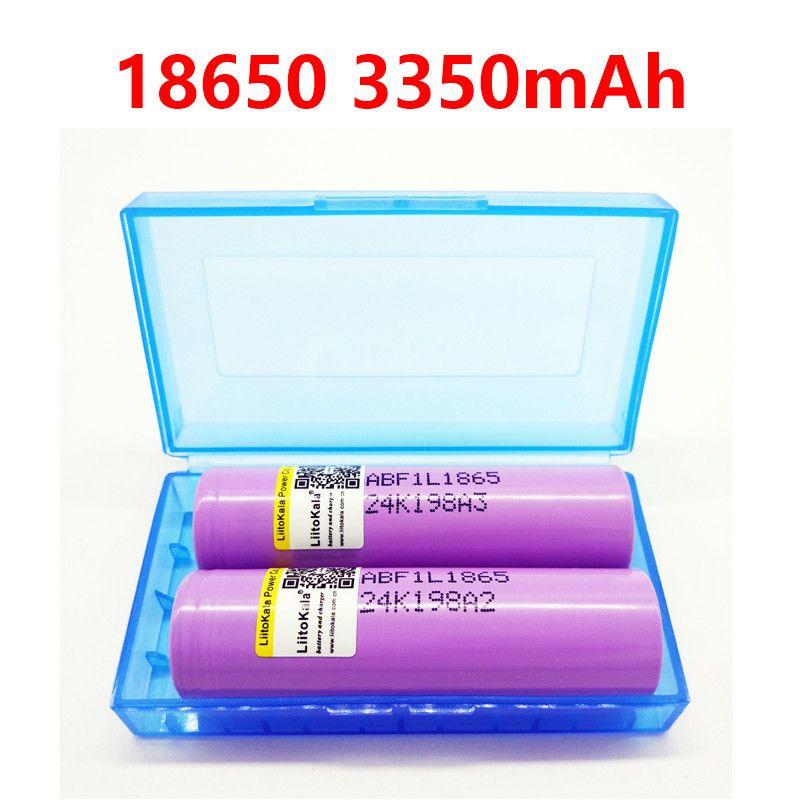 2 PCS liitokala F1L Original 3,6 V 18650 INR18650 F1L 3350 mAh 4,2 V Abgeschnitten Akku Für