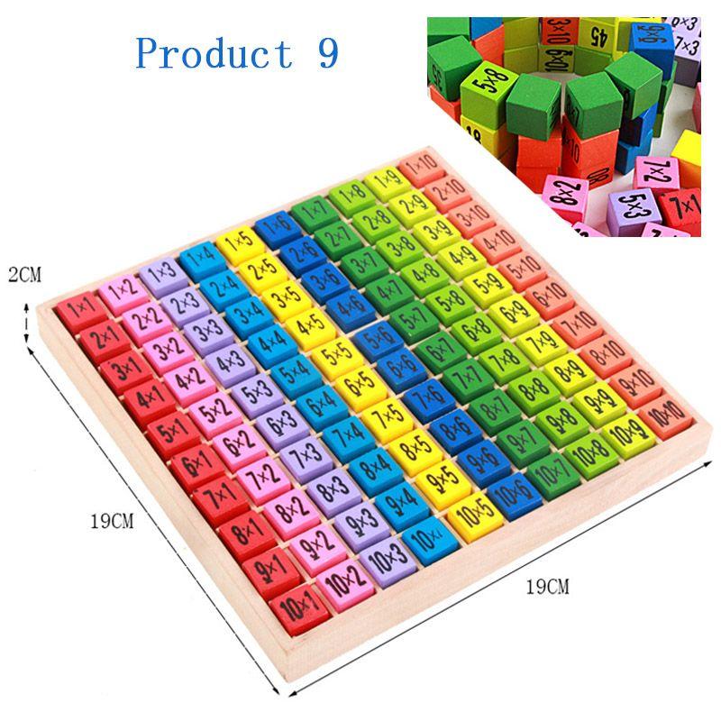 LYONAVA Children Math Toys Montessori Educational Wooden Preschool Abacus Learning Baby Boy Girl Kid Classfication Gift