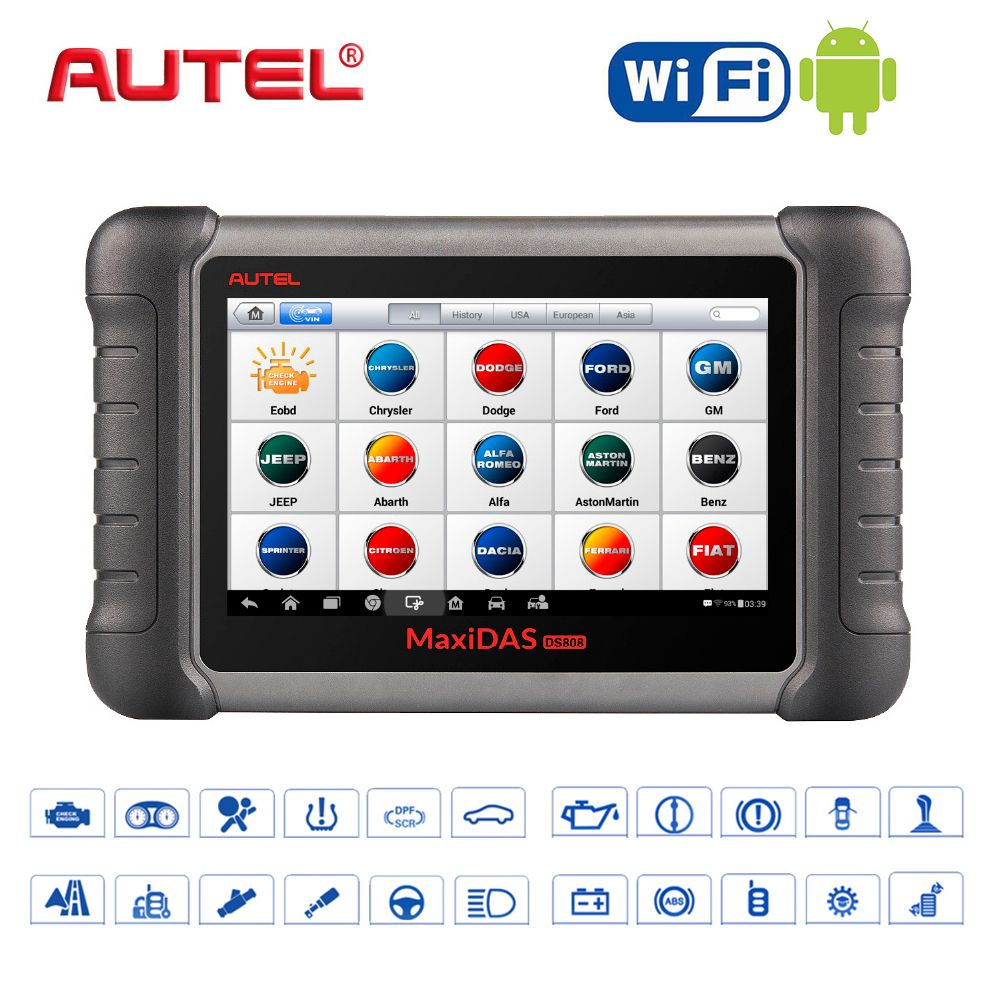 2018 Car Diagnostic Tool Autel Maxidas DS808K obd2 Scanner Swift Diagnosis Functions of EPB//DPF/SAS/TMPS WIFI DIY Kit