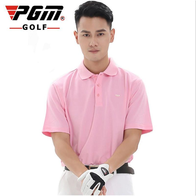 High-quality PGM Golf Clothing Men's Golf shirts 2017 Summer Breathable Elastic Solid color Golf Short Sleeved Polo Uniforms