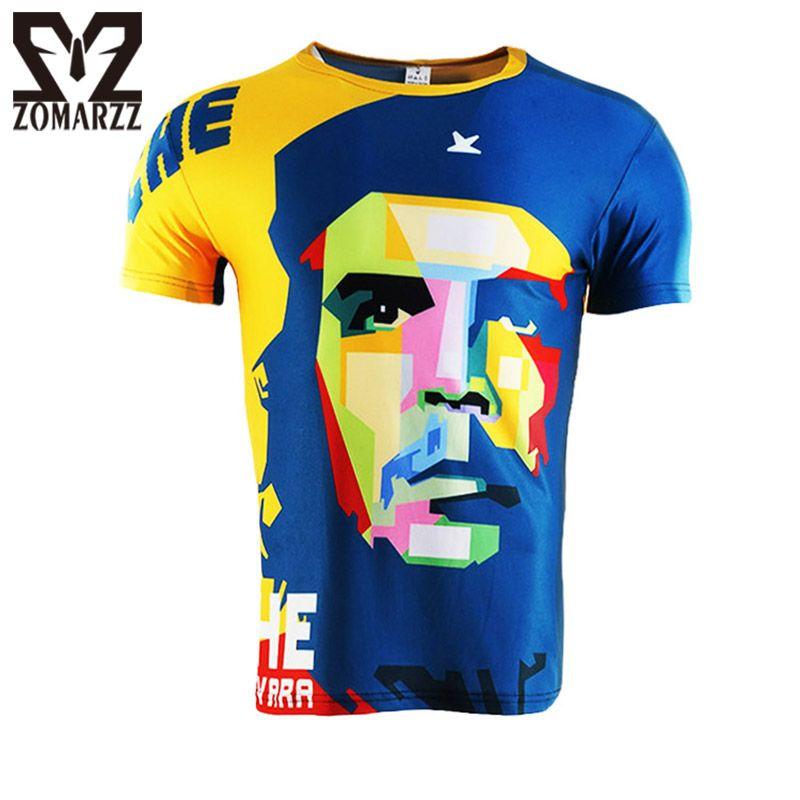 Célèbre T-shirt hommes 3D imprimé chemise héros CHE GUEVARA à manches courtes O cou t-Shirt décontracté mâle hauts de compression S-4XL