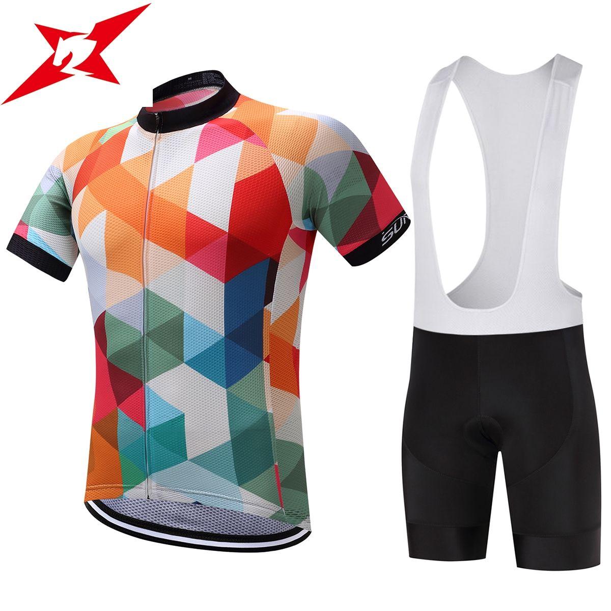 Surea Велоспорт Джерси 100% полиэстер гель Велосипедный Спорт Костюмы короткий рукав Майо Ропа Ciclismo горный велосипед одежда #384