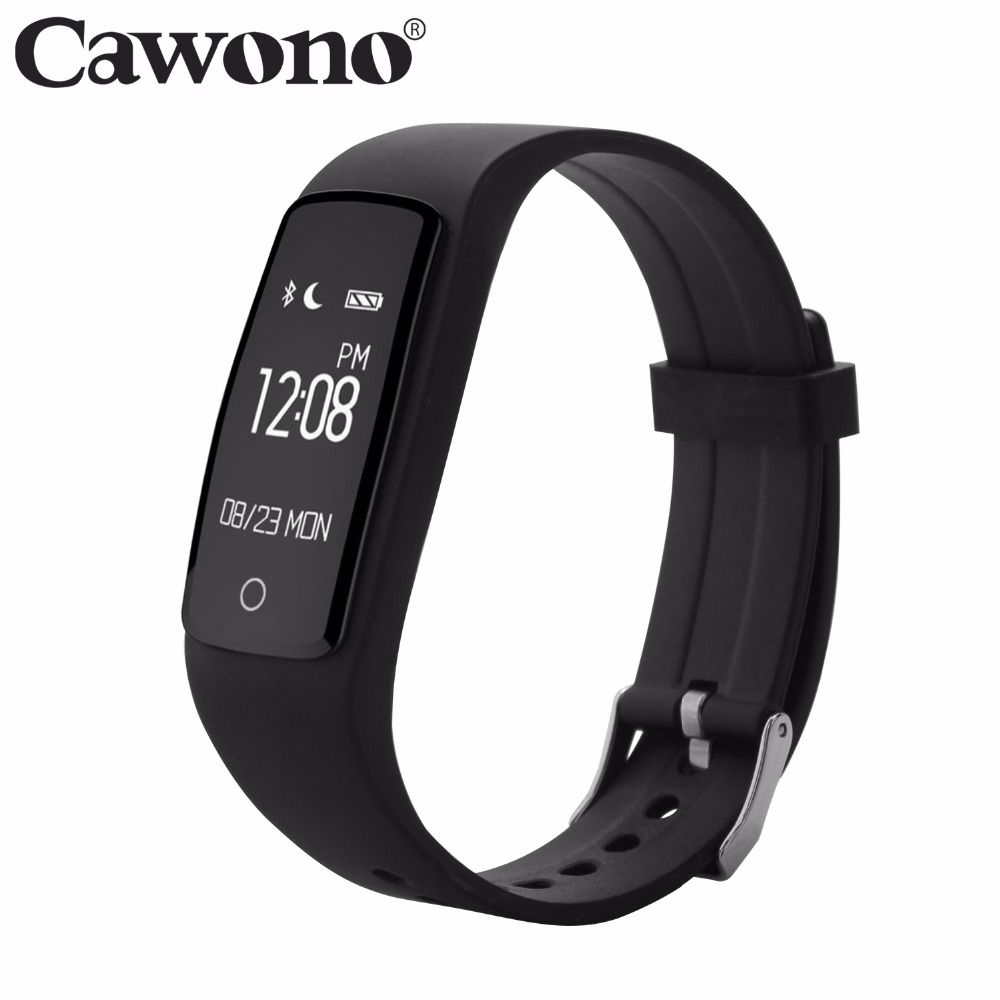 Cawono Smart Bracelet S1 Bluetooth 4.0 IP67 Waterproof Wristband With Smart Heart Rate Fitness Sports Traker for IOS Android