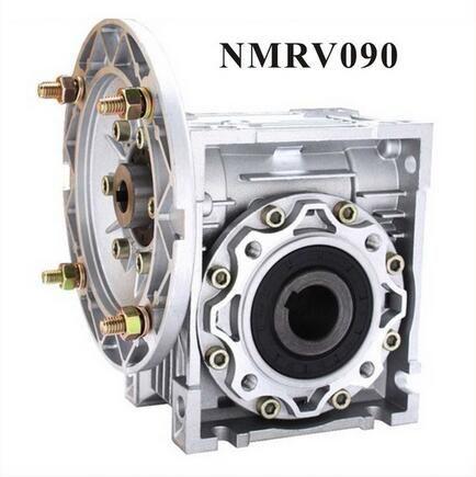 NMRV090 Worm Reducer 80:1 or 100 :1 Worm Gearbox 19mm 24mm 28mm input shaft 90 Degree Speed Reducer RV090