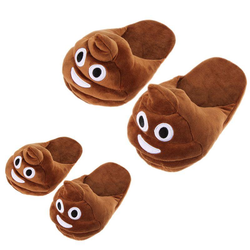 2016 caliente nueva emoji peluche relleno unisex Zapatillas Cartoon invierno inicio zapatillas envío libre