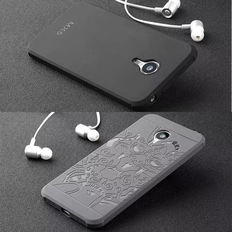 Cas de téléphone Pour Meizu MX5 Haute qualité Ultra mince de silicium dur protecteur couverture arrière pour Pour Meizu MX 5 Mobile logement de téléphone