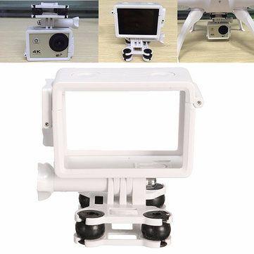 Golpes blanco montaje de cámara para gopro sjcam xiaomi Yi Cámara Syma X8C X8W X8G X8HC X8HW X8HG quadcopter
