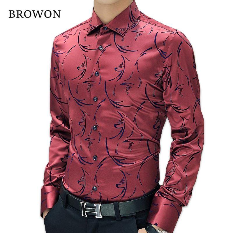2017 New Arrival Luxury Brand Mens Formal Shirts Long Sleeve Floral Men Shirt Tuxdeo Shirt Designer Shirts Plus Size 5XL