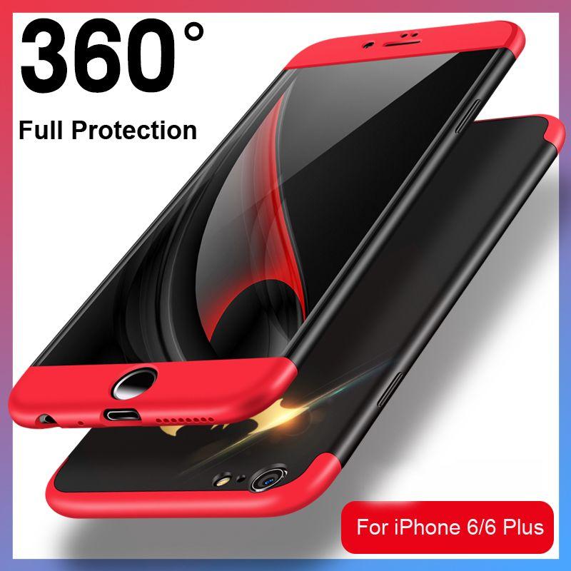 Vpower Téléphone étuis pour iphone 6 6 S Plus, PC + TPU 3-Couches Hybride Plein-Corps Protéger étui pour iphone 6 Coque De Téléphone