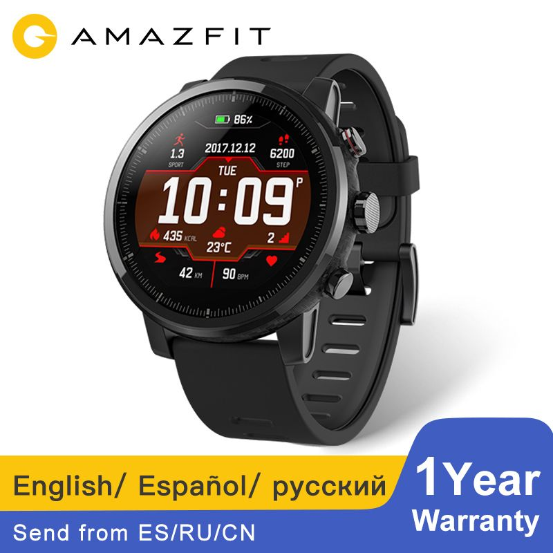 Amazfit Stratos Huami Amazfit Pace 2 Smartwatch Bluetooth Music GPS 11 Kinds Sports Modes 5ATM Waterproof Long Standby Battery