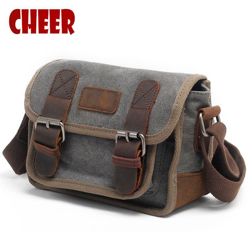 Nouvelle épaule de toile sac d'épaule des hommes occasionnels Bandoulière Croix sac vintage rétro de mode de femmes petit carré sacs Haute qualité