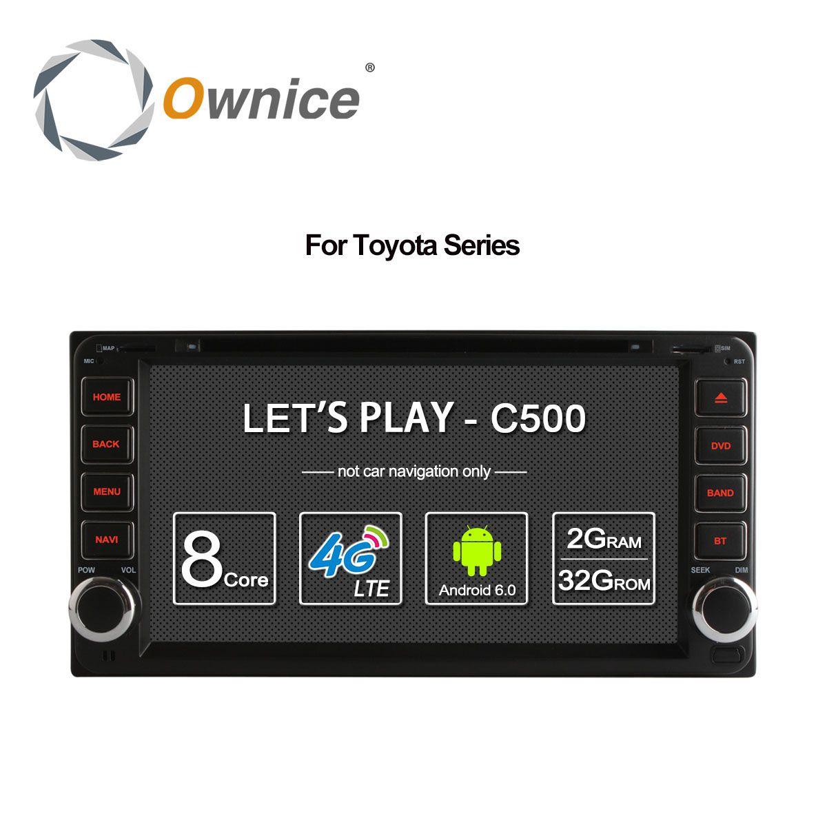 Ownice Android 6.0 Octa 8 Core 2G RAM auto dvd-player für Toyota Hilux VIOS Old Camry Prado RAV4 Prado 2003-2008 4G LTE Netzwerk