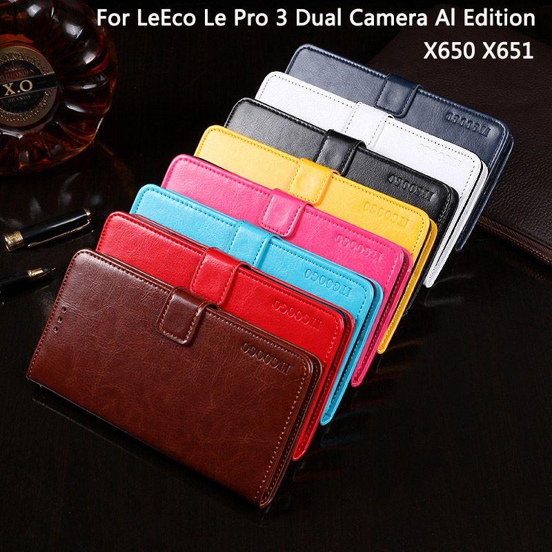 Itgoogo For Letv LeEco Le Pro3 AI X650 Case Cover Flip Leather Case For Letv LeEco Le Pro 3 Dual Camera AI Edition X651 Cover