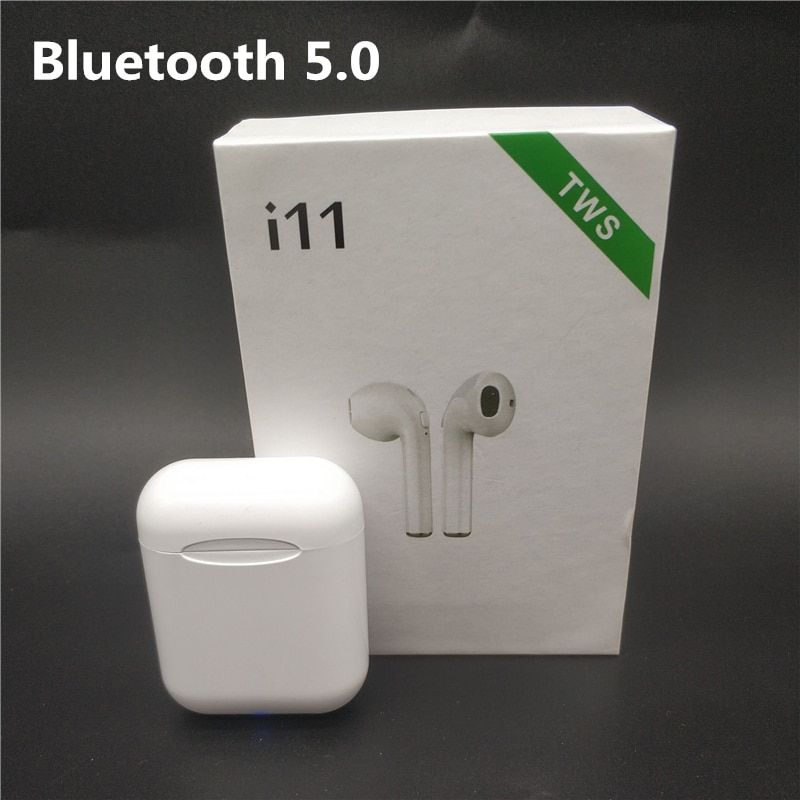 Universal Wireless Bluetooth 5.0 i11 TWS Earphones Mini Earbuds Stereo With Charging Box For Iphone Samsung S6 Xiaomi Andriod