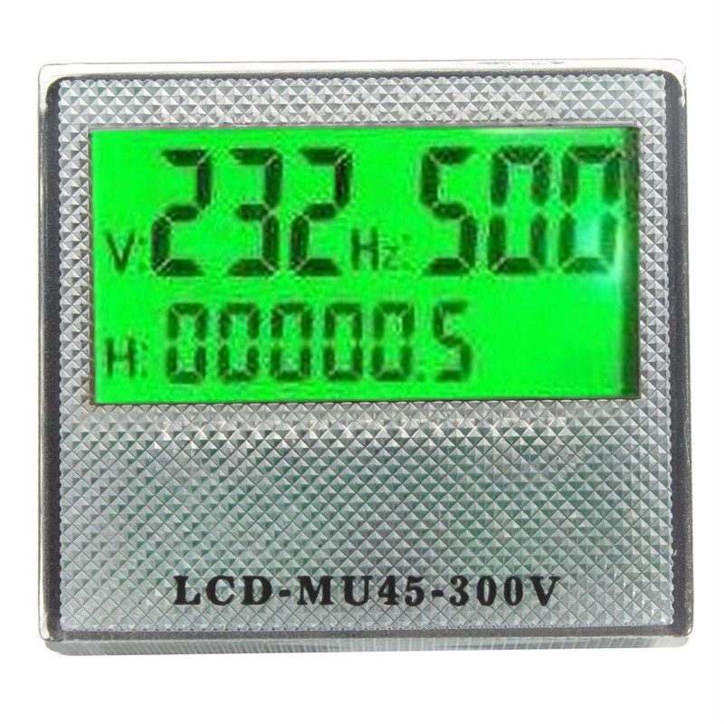 High Quality AC 80-300V 3in1 LCD Time Voltage Frequency Combo Meter For Generator High Quality