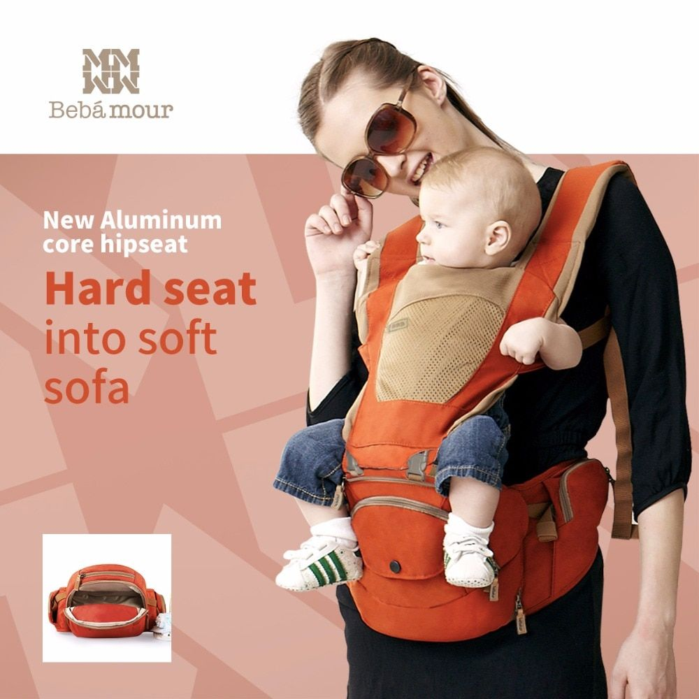 Bebamour Baby Hipseat Detachable Baby Sling New Aviation Aluminum Filling Hip seat 6 In 1 Breathable Baby Carrier