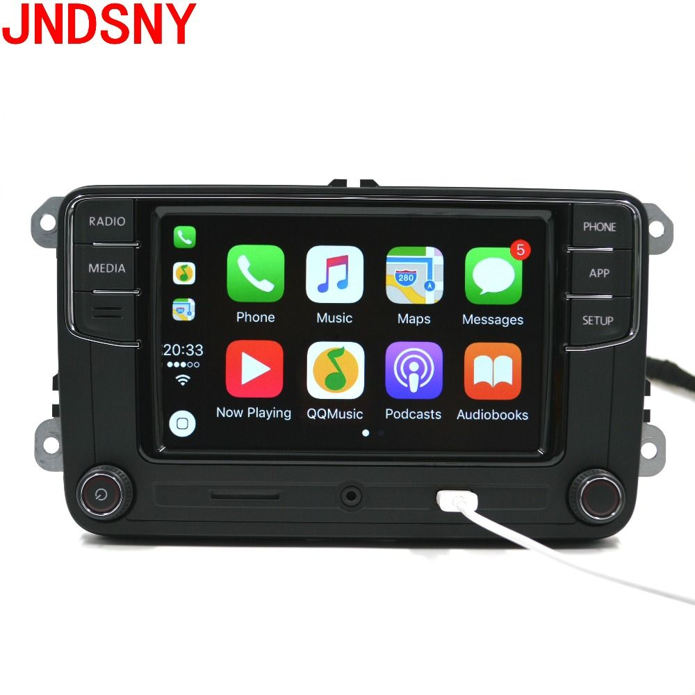 JNDSNY RCD330G CarPlay RCD330 Plus CarPlay Car Radio For VW Tiguan Golf 5 6 Jetta MK5 MK6 Passat Polo Touran 6RD035187B